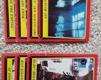 1983 Star Wars Trading Cards - Red