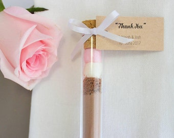 Hot Chocolate Wedding Favours - Test Tubes (20ml)