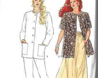 Style 2284 Made Easy Pattern, Misses Separates, Long Line Jacket, Paneled Skirt And Trousers Pattern, Size 8-18, UNCUT
