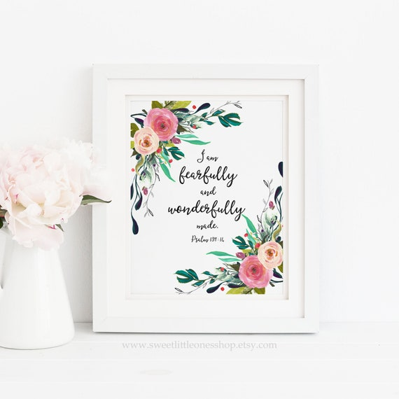 I Am Fearfully And Wonderfully Made Psalm 13914 Printable