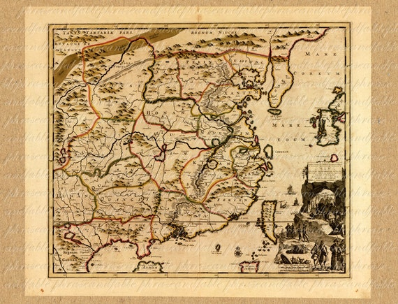 Map of china from the 1700s 189 ancient old world map sailing gumiabroncs Image collections
