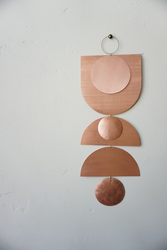 """Copper Wall Hanging - """"yuba"""" - made-to-order - 2 week turnaround time"""