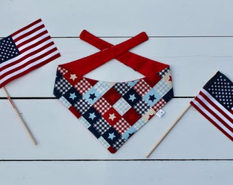 Patriotic Plaid Bandana