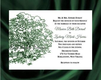 Apple Tree Wedding Invitation & RSVP  Apple Tree Wedding Invitations  Tree Wedding Invitation  - Tree Design 44