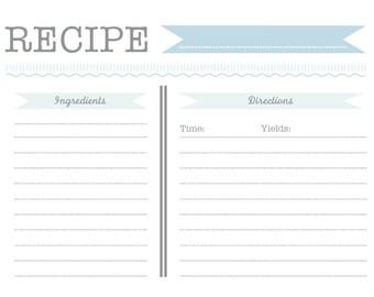 Recipe Card Download