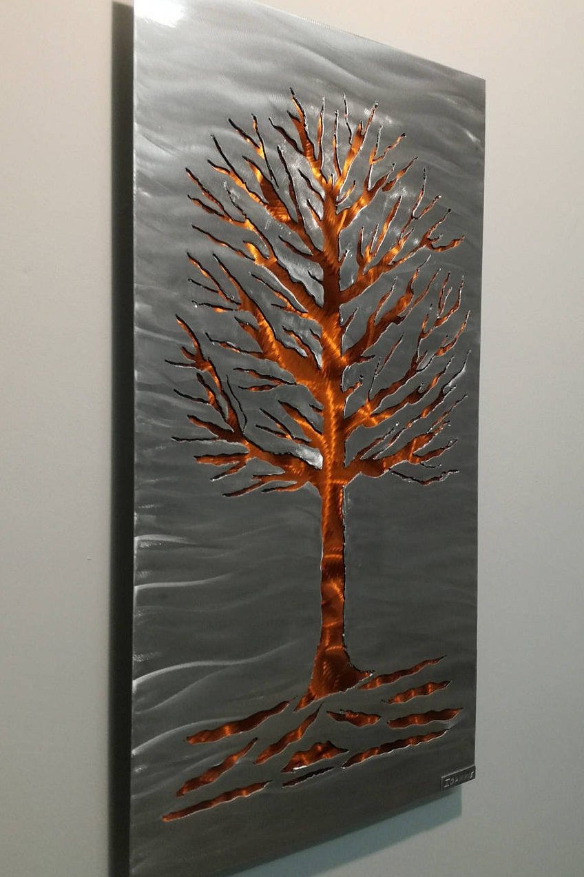 sculpture murale moderne 39 39 arbre de vie. Black Bedroom Furniture Sets. Home Design Ideas