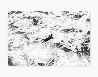 Glider ~ Surf Photography, Surfing, Ocean, California, Longboard, Summer, Nature, Beach, Wall Art, Living Room, Bedroom, Monochrome