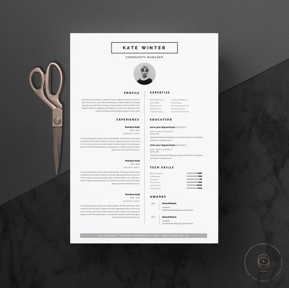 sjabloon voor minimalistische cv  u0026 cover brief pictogram