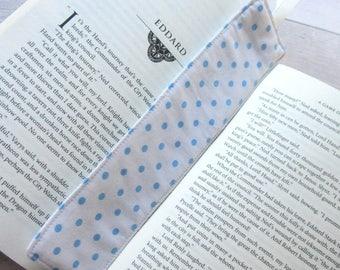 Polka Dot Bookmark - Bookmark - Fabric Bookmark – Teacher Gift – Party Favour – Bookworm Gift – Book Lover Gift – Stocking Filler