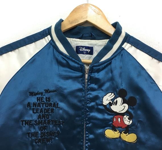 mickey embroidery japanese japanese japanese jacket souvenir 80's style Sukajan fashion logo jacket Vintage yakuza multicolor mouse 5EAFAq