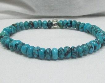 Genuine Turquoise Bracelet, Turquoise Jewelry, Turquoise Bracelet, Healing Stone, Healing Jewelry, TQ211