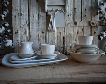 Lot of White Ironstone ~ Alfred Meakin ~ Homer Laughlin ~ Wedgewood ~ American and English Ironstone ~ Wheat Pattern ~ Vintage ~ 18 Pieces!
