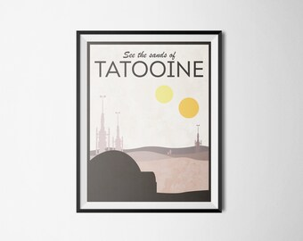 Star Wars Themed Tatooine Travel Poster