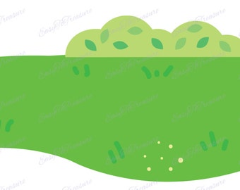 Digital Download Clipart - Light Green Grass JPEG and PNG files