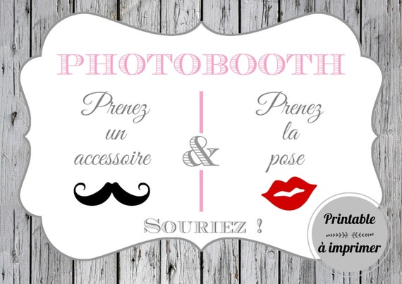 affiche photobooth imprimer. Black Bedroom Furniture Sets. Home Design Ideas
