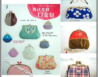 Tutorial Book (Variety of frame purse)  35themes metal frame purses With 1:1scale  patterns