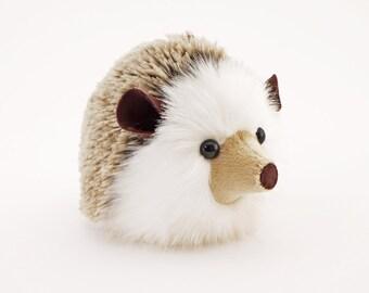 Stuffed Hedgehog Stuffed Animal Sebastian the Plush Toy Brown Hedgehog Kawaii Plushie Fuzzy Cute Cuddly Faux Fur Toy Medium 5x8 Inches
