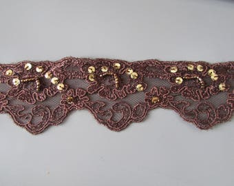 Sequin Embroidered lace in many colours