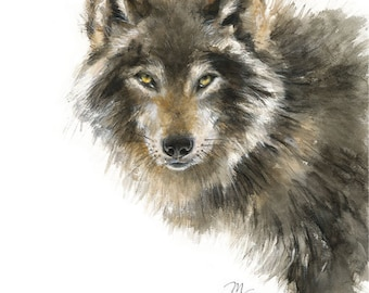 Wolf Watercolor Painting - Giclee Print - Home Wall Decor - Wolf  Watercolor Illustration - Woodland animals