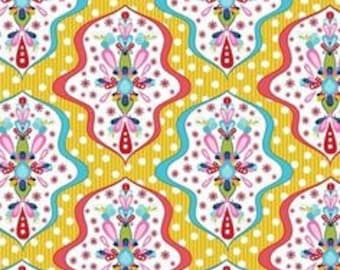 Riley Blake Floriography by Chelsea Anderson fabric by the yard summer fabric Floriography c3941 yellow