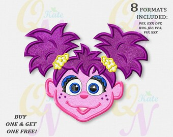 BOGO FREE! Abby Cadabby applique embroidery design, Sesame Street Machine Embroidery Design, Embroidery designs baby, Birthday Baby, #120