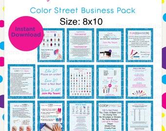 Color Street Spring Business Pack 8x10 --Instant Digital Download
