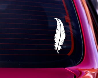 Feather Decal, Vinyl Decal, Feather Sticker, Nature Decal, Car Window Decal, Laptop Decal, Laptop Sticker, Water Bottle Decal, Car Decal