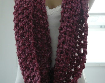 Handmade Cowl, Super Chunky Cowl, Mauve, Ladies Accessories, Ready to Wear, Chic, Trendy,