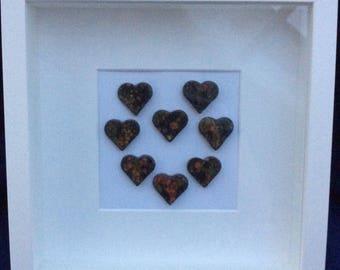 Heart of Hearts Box Frame in Masquerade