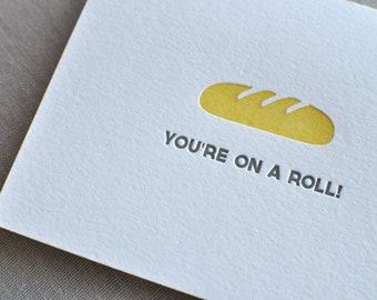 Punny Food Variety Letterpress Cards & Envelopes, Set of 10