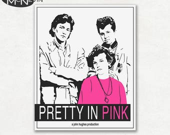 PRETTY IN PINK, Vintage Movie Poster, Fine Art Print