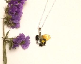 Handblown glass honey bee, bee conservation awareness, bee jewelry, glass bee, honey bee gift