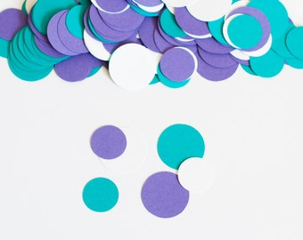 Girls Birthday Party, Purple Turquoise, Circle Confetti, Birthday Party Decoration
