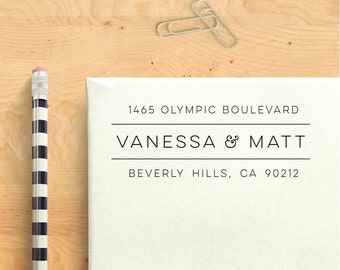 Custom Address Stamp - Crisp & Clean Self Inking Return Address Stamp