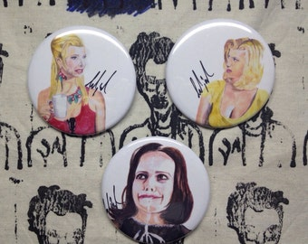 Romy and Michele's HS reunion  set of three buttons