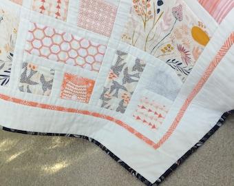 New! Morning Walk southwestern desert theme quilt ready to ship.