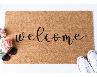 Welcome Doormat   Welcome Mat   Welcome Door Mat   Cute Door Mat   Unique  Doormat
