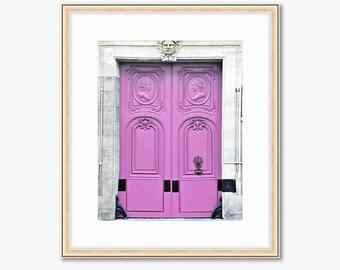 Paris Photograph -- Light Pink Doors -- Travel Photography -- 8 X 10 Inch Print