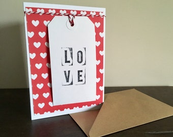 Valentines Card, Anniversary Card, Wedding Card, Love Card, Cards For Men, Cards For Women, Printing Block, Typography, Personalised Cards