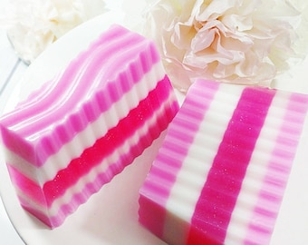 Spring. Easter Gift. spring decor. CHERRY BLOSSOM RUFFLE Soap. Spring Gift. Girlfriend. Best Friend. Gift for Women. Wife Gift. Gift for her