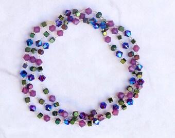 Aurora Swarovski Crystal Multiway Bracelet. Stretchy bracelet.
