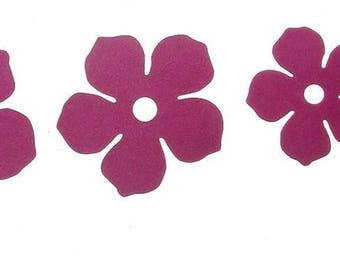 Cut scrapbooking flowers set of 4 cutouts