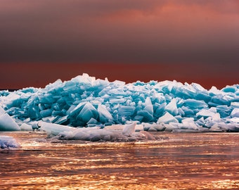 Blue Ice, Straits of Mackinac