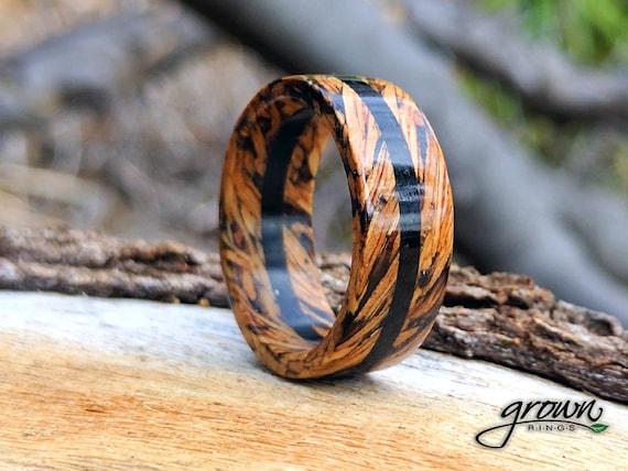 Whiskey Barrel rings Jack Daniels Ring Ebony Unique mens ring