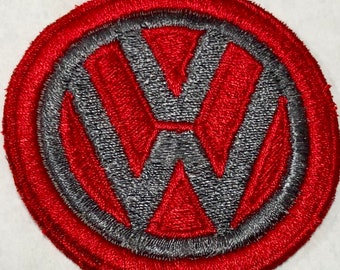 VW Iron On Patch Machine Embroidered