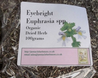 Eyebright dried organic herb - euphrasia spp