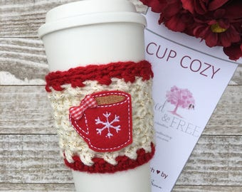 Hot Cocoa Cup Cozy, Coffee Cozy, Drink Sleeve, Cocoa, Gifts under 15