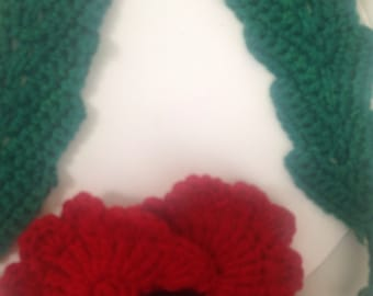 Poppy Wreath with 2 leaves ( by Ladypoppies )