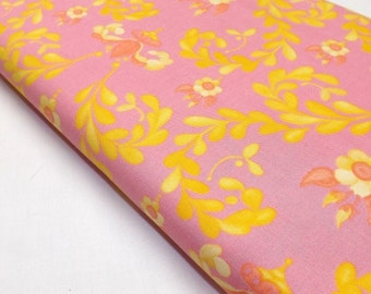 Coral Fabric, Fabric By The Yard, Free Spirit Fabric, Tina Givens fabric, Modern Fabric, Modern Floral Fabric, Georgina, Fabric, Quilting