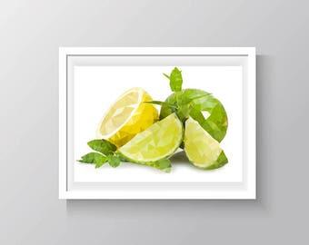 Limes and lemon (cross stitch pattern)